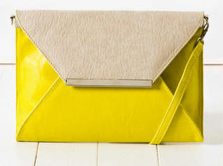 Celine colorblock envelope clutch | Same Chic Different Day