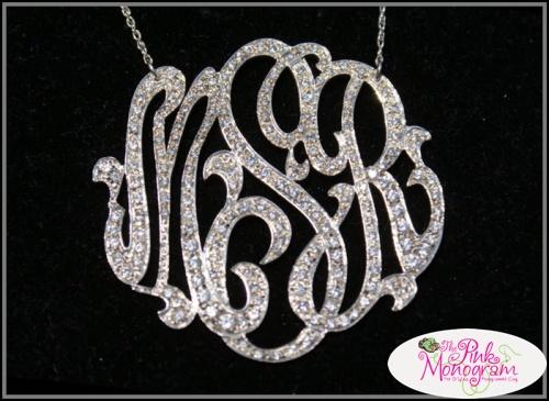 fab find  monogram necklaces
