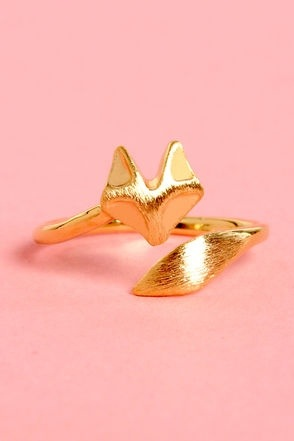 'Sly as a Fox' gold knuckle ring, $12 at Lulus.com