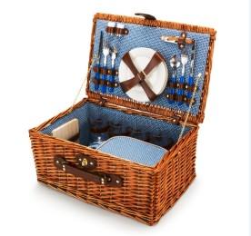 Wicker Picnic Basket, $128