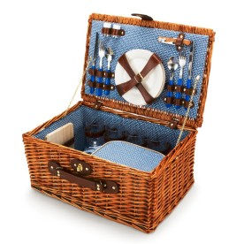 Wicker Picnic Basket, $128
