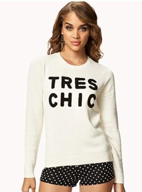 F21TresChicsweater