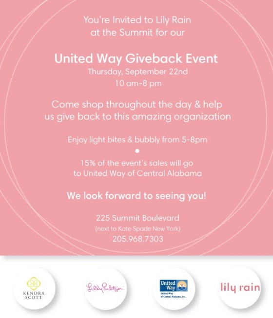 lily rain united way event